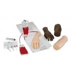 Braço portátil para injecção intravenosa e simuladores de mãos