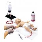 """Recém-nascido """"Nita"""" - simulador de acesso p/vaso venoso"""